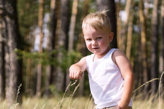 focení dětí v přírodě
